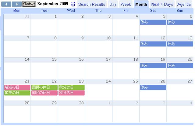 2009年9月の様子。緑が Google、赤いのが Apple。